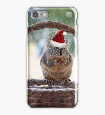 Christmas Squirrel iPhone Case/Skin