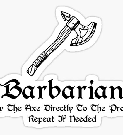 DnD - Barbarian Sticker