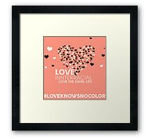 Love Interracial, Love The Swirl Life Framed Print