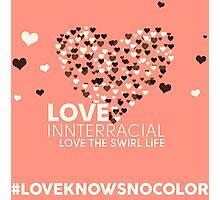 Love Interracial, Love The Swirl Life Photographic Print