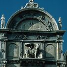 Renaissance Facade Lombardi Statues S Giovanni et S Paulo Cathedral Venice Italy 19840731 0075 by Fred Mitchell