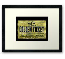willy wonka golden ticket Framed Print