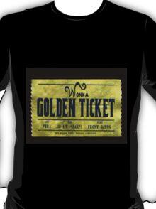 willy wonka golden ticket T-Shirt