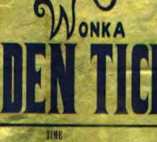 willy wonka golden ticket Sticker