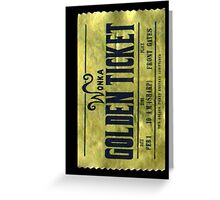 willy wonka golden ticket  Greeting Card