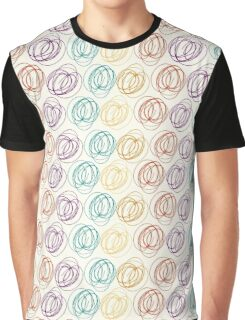 scribbly line pattern Graphic T-Shirt