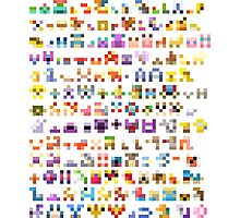 Original 151 Pokemon Minimalism Photographic Print