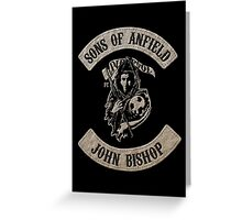 Sons of Anfield - Famous Fans, John Bishop Greeting Card