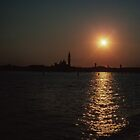 Sunset over S Georgio Venice Italy 19840731 0079M  by Fred Mitchell