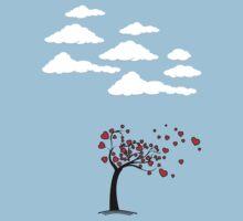 Heart Tree  (Heart Tree - Flying Hearts Couples Design) by 2E1K
