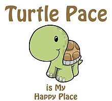 Turtle Pace is my Happy Place, happy turtle by Eggtooth