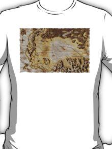 Old folded map of Alagaësia T-Shirt