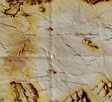 Old folded map of Alagaësia Sticker