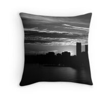 and yet another day closes Throw Pillow