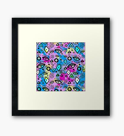 Tribal Pattern Hippy Shake Framed Print