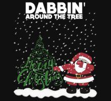 Cute Funny Dabbin' Around the Tree Kids Tee