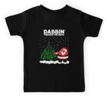Cute Funny Dabbin' Through the Snow Kids Tee