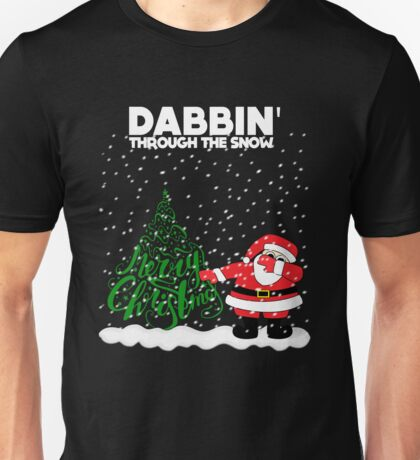 Cute Funny Dabbin' Through the Snow Unisex T-Shirt