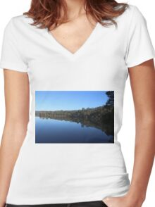 Morning Reflections Women's Fitted V-Neck T-Shirt