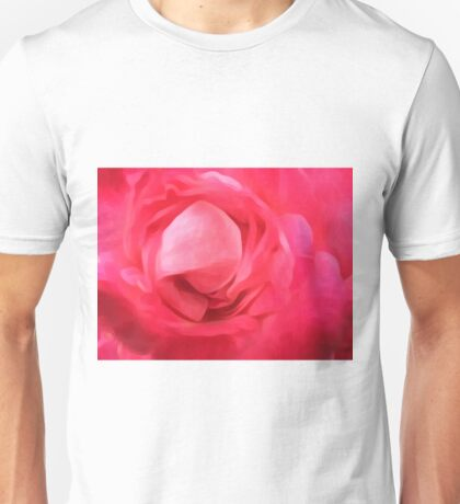 closeup red rose texture abstract background Unisex T-Shirt