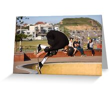 Backside Tuck-Knee Indy Air Greeting Card