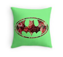 Floral Batman Throw Pillow