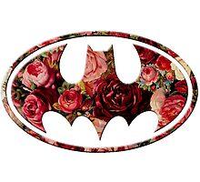 Floral Batman by Rachael Burriss
