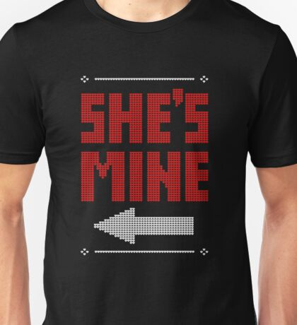 She's Mine He's Mine Matching Couple T-Shirts Unisex T-Shirt