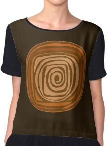 Earth Swirl Chiffon Top
