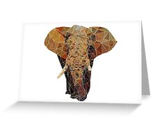 PolygonElephant (White) Greeting Card