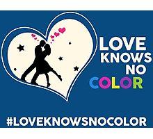 Love Knows No Color. Photographic Print