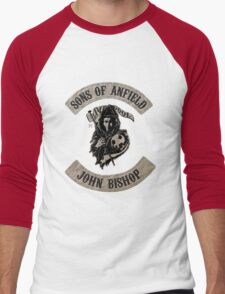 Sons of Anfield - Famous Fans, John Bishop Men's Baseball ¾ T-Shirt