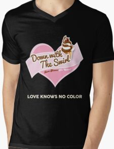 Down With The Swirl. Mens V-Neck T-Shirt