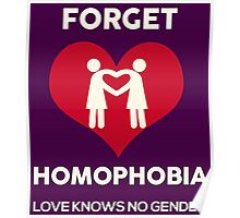 Forget Homophobia, Love Knows No Gender. Poster