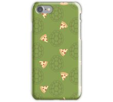 TMNT green shells and pizza (green) iPhone Case/Skin