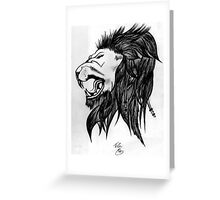THE LION OF FREEDOM! Greeting Card