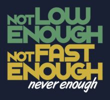 Not low enough, Not fast enough, Never enough (4) by PlanDesigner