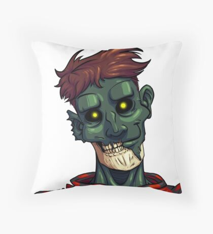 Face of The Undead Throw Pillow