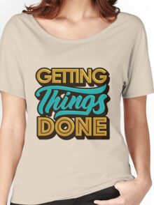 Getting Things Done2 T-shirt femme coupe relax