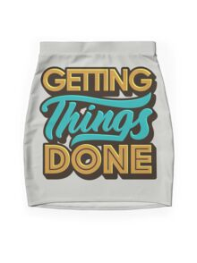 Getting Things Done2 Mini Skirt