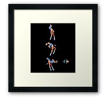 Chun Li Fireball Vertical Direct Shot Framed Print