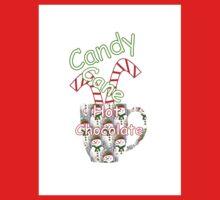 Candy Cane Hot Chocolate Kids Tee