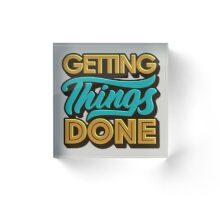 Getting Things Done2 Bloc acrylique