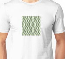 3D geometric pattern in greenery and kale colours Unisex T-Shirt
