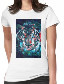 Artistic Tiger Womens Fitted T-Shirt