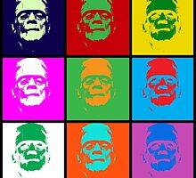 Frankenstein Pop Art by SquareDog