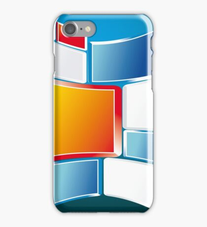 Abstract Windows Digital Vector art iPhone Case/Skin