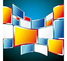 Abstract Windows Digital Vector art Photographic Print