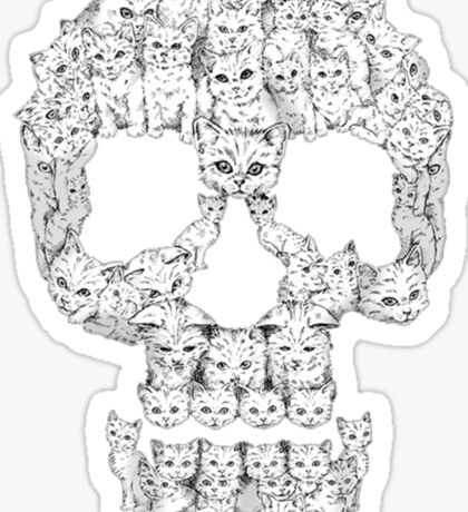 Skulls-Are For-Pussies Sticker
