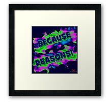 Because Reasons! Framed Print